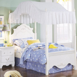 Standard Furniture Diana Canopy Bed in White