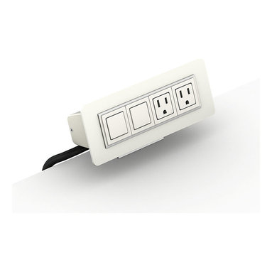 Herman Miller - HM Connect S-300 - Feel the power! This two-outlet power source clamps onto any surface that's 1½-inches thick (or less), and provides you with two hubs for data ports. Use it to juice up your laptop, external hard drive, task lamp or smart phone.