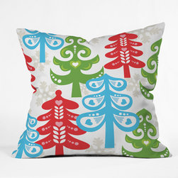 DENY Designs - DENY Designs Zoe Wodarz Forest Tales Throw Pillow - Wanna transform a serious room into a fun, inviting space? Looking to complete a room full of solids with a unique print? Need to add a pop of color to your dull, lackluster space? Accomplish all of the above with one simple, yet powerful home accessory we like to call the DENY Throw Pillow! Available in four sizes, our throw pillow is made from a medium weight woven polyester with a hidden zipper and removable bun insert.
