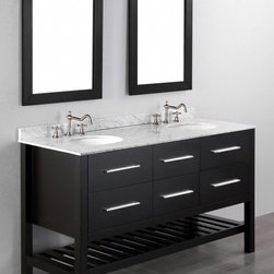 "Bosconi - Bosconi SB-250-5 60"" Contemporary Double Vanity - Bosconi SB-250-5 60"" Contemporary Double Vanity"