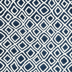 "Loloi Rugs - Loloi Rugs Charlotte Collection - Navy, 3'-6"" x 5'-6"" - The Charlotte Collection's striking patterns may draw you into a room, but it is the incredibly soft surface that will keep you there. Whether you are kicking your shoes off after a long day of work or just enjoying a lazy Sunday, your feet will appreciate the comfy microfiber feel. With a surface this soft, Charlotte is the ideal choice as a bedside accent, family room centerpiece, and even a bathroom rug in a scatter size. What's more, Charlotte's 100% polyester fibers are highly stain and moisture resistant, so its colors remain vibrant over time."