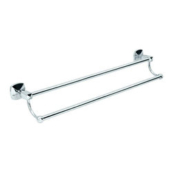 Gatco - Gatco Jewel Double Towel Bar - 463463 - Shop for Towel Bars Hooks and Rings from Hayneedle.com! About Gatco Fine BathwareGatco Fine Bathware is a privately held corporation based in the San Francisco Bay Area. For over 30 years Gatco s designs high-quality and smart value have made them the premier choice of consumers. Their line of designer bath collections ranges from traditional to modern making it easy to find bath products that complement your style. Towel bars mirrors grab bars shower curtain rods hooks and free-standing countertop accessories round out their extensive product list.