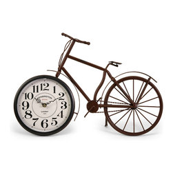 IMAX Imports - Higdon Bicycle Clock - Unique and fun bike clock, made with a rustic finish