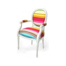 Eco Friendly Chairs - When it comes to chairs, what better approach to take than a royal one? The Louis XV Upholstered Chair comes from Dransfield & Ross and brings with it an explosion of colors. With a classic shape that seems to be part of an aristocratic environment, the chair asserts its high-class personality. The novelty comes from its unusual upholstery which makes an interesting contrast with the product's frame. Daring and visually appealing, this beautiful furniture piece is available in a variety of color combinations, from simple black&white to complex rainbow palettes. Perfect for modern apartments with a minimalist design, the Louis XV upholstered chair is sure to brighten up any room while adding a noble touch.