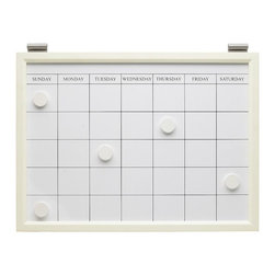 Magnetic Whiteboard Calendar, White - Make your entryway work harder by including a calendar. Write down all your commitments where everyone can see and add to them.
