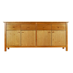 Spectra Wood - Bedford Sideboard - The sleek lines and contemporary feel of the Bedford Sideboard blend seamlessly with the sturdy and functional construction of this essential dining piece. Handcrafted in Pennsylvania using solid hardwoods, this dining collection, like all Spectra Wood furniture, features high-end, heirloom quality furniture that will last for generations to come and is sourced through eco-friendly, sustainable methods.