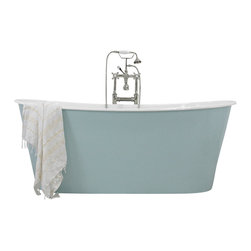 "Penhaglion - 'The Skye' 68"" Cast Iron French Bateau Tub Package from Penhaglion - Product Details"