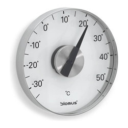 Blomus - Grado Stainless Steel Wall Thermometer Celsiu - Mounting kit included. Made of stainless steel, plastic and Acrylic. Designed by Floz Design. 1-Year manufacturer's defect warranty. 5.91 in. Dia. x 0.87 in. H