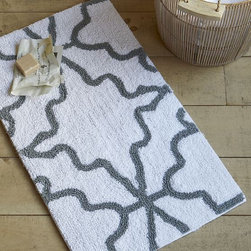Iznik Bath Mat - Love this Ikat pattern for adding some pattern to a bath.