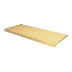 EcoWineracks Counter Top With Nosing, Golden Color, Clear Acrylic Finish - EcoWineracks are the worlds only traditional style wine racks made from non-forested and sustainable bamboo. Bamboo is superior to wood in strength and durability, is non-warping and has consistent grain.