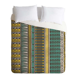 DENY Designs - DENY Designs Loni Harris Tribal Stripes Duvet Cover - Lightweight - Turn your basic, boring down comforter into the super stylish focal point of your bedroom. Our Lightweight Duvet is made from an ultra soft, lightweight woven polyester, ivory-colored top with a 100% polyester, ivory-colored bottom. They include a hidden zipper with interior corner ties to secure your comforter. It is comfy, fade-resistant, machine washable and custom printed for each and every customer. If you're looking for a heavier duvet option, be sure to check out our Luxe Duvets!