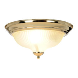 Premier - Ceiling New 13 inch Halophane Swirl Fixture - Premier 671671 13in. D by 6in. H Decorative Ceiling Fixture, Polished Brass.