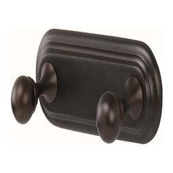 Alno Inc. - Alno Embassy Double Robe Hook  English (Imaged Chocolate Bronze) - Alno Embassy Double Robe Hook  English (Imaged Chocolate Bronze)