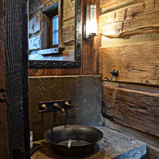 Eclectic Powder Room by Highline Partners, Ltd