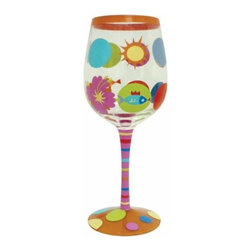 WL - 9 Inch Sun and Circles Motif 15 Ounce Wine Style Cocktail Bar Glass - This gorgeous 9 Inch Sun and Circles Motif 15 Ounce Wine Style Cocktail Bar Glass has the finest details and highest quality you will find anywhere! 9 Inch Sun and Circles Motif 15 Ounce Wine Style Cocktail Bar Glass is truly remarkable.