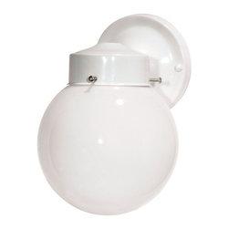 """Nuvo Lighting - Nuvo Lighting 76/704 Single Light 6"""" Porch Light with White Globe Shade, in Glos - Nuvo Lighting 76/704 Single Light 6"""" Porch Light with White Globe Shade, in Gloss White FinishNuvo Lighting 76/704 Features:"""