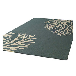 Rug - ~5 ft x 7 ft. Indoor/Outdoor Green Living Room Area Rugs - Living Room Hand-tufted Area Rug