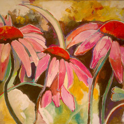 PBArts: Representational Art - Coneflowers by George Jones