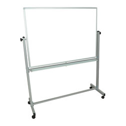 Luxor - Luxor Reversible Whiteboard - MB4836WW - Luxor MB whiteboard series are made from magnetic reversible whiteboards. White paint finish on main frame