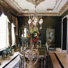 Mediterranean Dining Room by Dallas Design Group