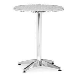 Zuo Modern - Zuo Christabel Folding Table in Aluminum - Folding Table in Aluminum belongs to Christabel Collection by Zuo Modern Sitting on a busy street corner, drinking a cup of coffee, updating the daily blog, while having a meal, the Christabel series is the perfect table to fit any caf� setting. This all aluminum table is MDF wrapped. The base sits on adjustable feet to contour to level. This series comes with everything as well as an adjustable a fix, ranging from table height to bar height. The Christabel is perfect for any setting. Folding Table (1)