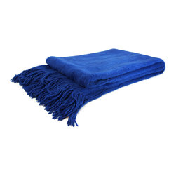 "Pur by Pur Cashmere - Signature Blend Throw Cobalt 50""x65"" - Not your mother's throw. 100% modal Dry clean only. Inner mongolia."