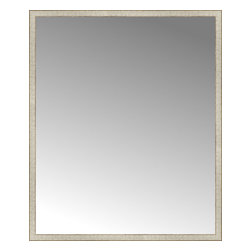 """Posters 2 Prints, LLC - 57"""" x 68"""" Libretto Antique Silver Custom Framed Mirror - 57"""" x 68"""" Custom Framed Mirror made by Posters 2 Prints. Standard glass with unrivaled selection of crafted mirror frames.  Protected with category II safety backing to keep glass fragments together should the mirror be accidentally broken.  Safe arrival guaranteed.  Made in the United States of America"""