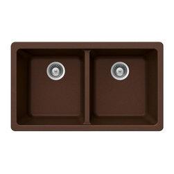 Houzer - Houzer Madison Undermount 50/50 Double Bowl Sink, Copper (M-200UEARTH) - Houzer M-200UEARTH Madison Undermount 50/50 Double Bowl Sink, Copper