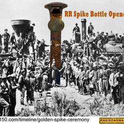 Railroad Spike Bottle Opener Handshake & Beers - Railroad Spike Bottle Opener Handshake & Beers
