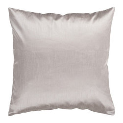 Surya Rugs - Taupe 18 x 18 Pillow - Add simple elegance to any room with this solid pillow. The color silver accents this decorative pillow. This pillow contains a poly fill and a zipper closure. Add this pillow to your collection today.  - Includes one poly-fiber filled insert and one pillow cover.   - Pillow cover material: 100% Polyester Surya Rugs - HH044-1818P