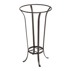 Minuteman International - Open Tulip Stand - FB-19 - Shop for Plant Hooks Shelves and Stands from Hayneedle.com! The graceful lines and Roman bronze powder coat of the Open Tulip Stand make this stand a beautiful addition to any home. This stand has a bottom shelf and accomodates ceramic birdbaths. Constructed of durable wrought iron for durability.About ACHLA DesignsThis item is created by ACHLA Designs. ACHLA is a garden accessories company that emphasizes unique wood and hand-forged wrought iron European furnishings for the home and garden. ACHLA Designs continues to add beautiful and unique items year after year resulting in an unusually large product line. All ACHLA products are stocked in the company's warehouse for year-round prompt shipping. ACHLA Designs takes great pride in offering exceptional products and customer service.