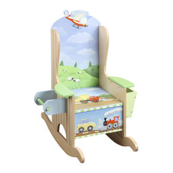 Teamson Design - Teamson Kids Transportation Hand Painted Potty Chair - Teamson Design - Educational Toys - W9945A. A great way to get them started! With high quality, hand painted and hand carved, they will want to use this potty chair all the time!