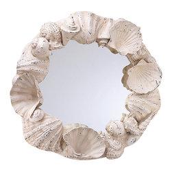 Zodax - Zodax Costa Brava Seashell Mirror - Zodax - Accent Mirrors - NCX2399 - Costa Brava Seashell Mirror