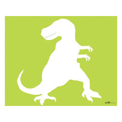 Oh How Cute Kids by Serena Bowman - Mod T-Rex, Ready To Hang Canvas Kid's Wall Decor, 11 X 14 - Each kid is unique in his/her own way, so why shouldn't their wall decor be as well! With our extensive selection of canvas wall art for kids, from princesses to spaceships, from cowboys to traveling girls, we'll help you find that perfect piece for your special one.  Or you can fill the entire room with our imaginative art; every canvas is part of a coordinated series, an easy way to provide a complete and unified look for any room.