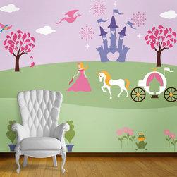 My Wonderful Walls - Perfectly Princess Bedroom Wall Mural Stencil Kit for Painting - - 23 individual princess wall mural stencils