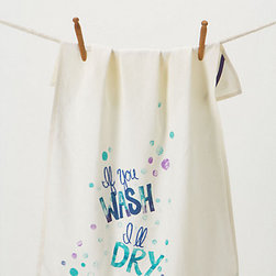 If You Wash, I'll Dry Dishtowel - This colorful, clever tea towel would be a perfect gift for a roommate who has a sense of humor.