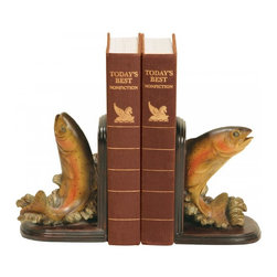 Sterling Industries - Pair Rainbow Trout Bookends - Pair Rainbow Trout Bookends