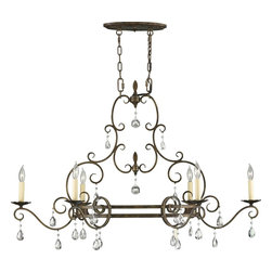Murray Feiss - Murray Feiss Chateau Traditional Chandelier X-ZBM6/4032F - The delicate framing of the Murray Feiss Chateau Traditional chandelier makes the design eloquent and mesmerizing. The mocha bronze finish displays the craftsmanship of the scroll details. With the dangling crystal accents, the chandelier provides a glistening look to the room. Make this chandelier an exquisite d&#233:cor accent to any part of the home.