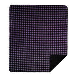 Throw Blankets Denali Purple-Black Buffalo Check/Black - Denali micro plush throws are considered the Cadillac of throws due to their rich colors and soft feel. These throws are softer and warmer than fleece.