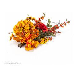 Gold & Orange Hydrangea Runner Tie On - Custom Gold & Orange Hydrangea Runner Tie On