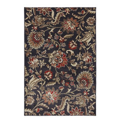"American Rug Craftsmen - Dryden Indian Summer Ashen Smoke Floral 9'6"" x 12'11"" American Rug Craftsmen - Our Dryden Collection is the ultimate combination of style, comfort and durability. This collection impresses those who demand fashionable style with patterns including: tribal kilims, modern ikats, and Moroccan tile patterns. Made from our softest and most talked about fiber, SmartStrand, this collection is carefully crafted using 2-ply space dyed yarns, providing 24 shades of color. Every new SmartStrand area rug comes with a lifetime stain and soil warranty. Manufactured entirely in the United States, American Rug Craftsmen"