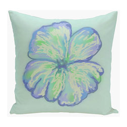 e by design - Floral Blue and Yellow 18-Inch Cotton Decorative Pillow - - Decorate and personalize your home with coastal cotton pillows that embody color and style from e by design  - Secondary Color: Yellow  - Fill Material: Synthetic down  - Closure: Concealed Zipper  - Care Instructions: Spot clean recommended  - Made in USA e by design - CPO-GH20-FLor1U-18