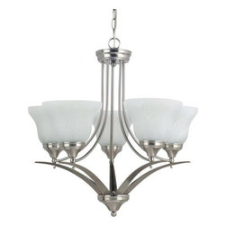 Sea Gull Lighting - Sea Gull Lighting 31174 Brockton Five Light Chandelier - This chandelier from the Brockton Collection has an aviation inspired design that melds traditional and contemporary elements for a final style that will enhance any room's decor.Features:
