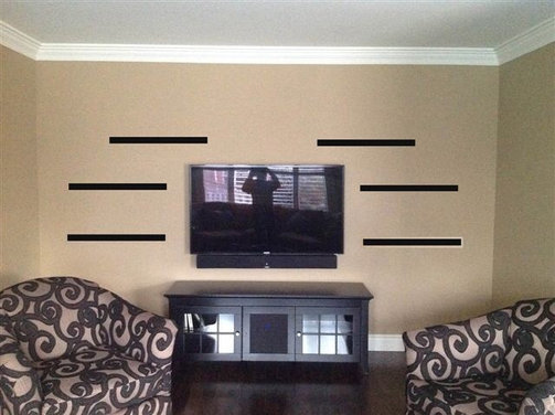 Floating Wall Shelves with TV