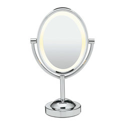 Conair Double-Sided Lighted Oval Mirror
