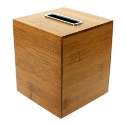 Gedy - Square Bamboo Tissue Box - A luxury piece.