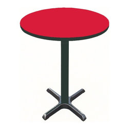 Correll Inc - Round Cafe Breakroom Top in Red (42 in./Red) - Finish: 42 in./RedColumn and base not included. Pictured in Red. 24 in.. 30 in.. 36 in.. 42 in.. 48 in.. 60 in.