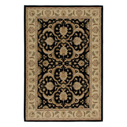 """Orian - Orian American Heirloom Hilary (Black) 5'3"""" x 7'6"""" Rug - American Heirloom Collection, Orian Rugs' flagship collection is inspired by classic, hand-woven oriental rugs that combine understated elegance with classic style. The 1.5 million point design construction is densely woven with Orian's finest-denier yarns creating unparalleled visual dimension and pin point design clarity."""