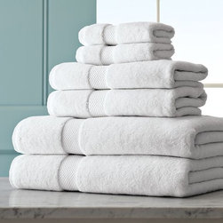 Chambers® Heritage Solid Towel Sets, White - I'm all about white sheets and white towels. This set from Williams-Sonoma looks extra cozy.