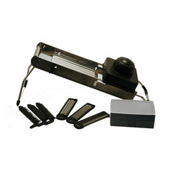 Berghoff - Berghoff Mandoline Slicer - 7 changeable blades, non-slip folding stand, easy to handle, safe, and durable. Built in case to store blades.